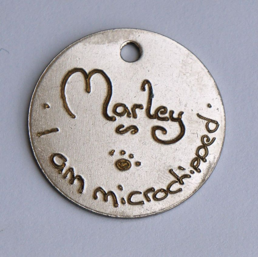 Bulk offer of 300 25mm  engraved pet tags to charities, vets, kennels, dog walkers etc